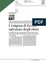 L'enigma di Bartali salvatore degli ebrei - Il Corriere della Sera del 9 gennaio 2021