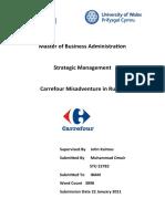 Careefour Misadventure in Russia (Strategic Management)
