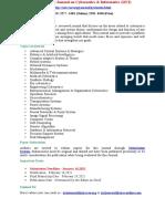International Journal on Cybernetics Informatics IJCI