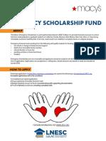 LULAC - LNESC - Macy's Emergency Scholarship Fund Flyer