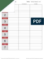 Simple Weekly Schedule Update