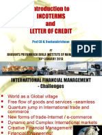 Introduction to INCOTERMS and LETTER OF CREDIT