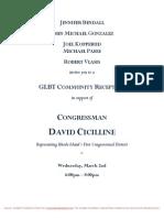 Evening Reception for David Cicilline