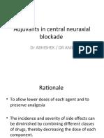 Adjuvants in central neuraxial blockade