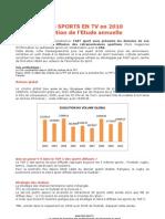 FAST Sport - Etude Sur La Diffusion Des Sports en TV 2010 - www.sportbusiness360.com