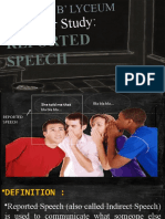 Reported Speech 1 - Intro - usage - verb changes