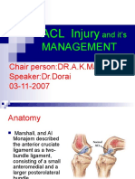 Acl Injury and It's Management
