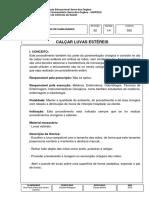 POP 055 CALÇAR LUVAS ESTÉREIS 2018 com figuras