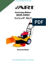 Gestueppmaeher BDR-595D Yellow-Max