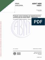 NBR 16651- 2019 - Proteção contra incêndios em EAS