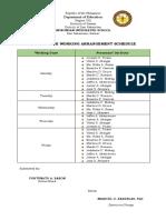 Individual Accomplishment Report Template