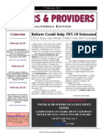 Payers & Providers California Edition – Issue of February 17, 2011