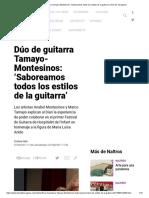 Dúo de guitarra Tamayo-Montesinos_ 'Saboreamos todos los estilos de la guitarra' _ Diari de Tarragona
