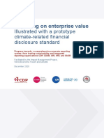 Reporting on Enterprise Value Climate Prototype