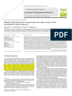 Manufacturing performance measurement and target setting - LER - 2011