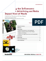 Influencing the Influencers- How Online Advertising and Media Impact Word of Mouth