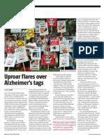 Uproar flares over Alzheimer's tags