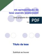 Guia para apresentação usando PPS