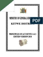Principle of accounts