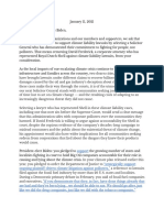 Letter From Climate Organizations on Solicitor General Considerations
