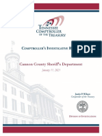 Cannon County Sheriff's Department Report