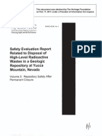Yucca Mountain Safety Evaluation Report - Volume 3