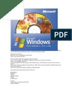 Windows XP Pro Performance Edition Feb 2008