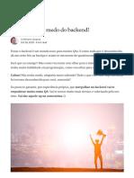 QA, não tenha medo do backend!. Testar o backend é um mundo novo para… _ by Cristhiane Jacques _ Revista TSPI _ Medium