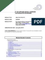 HSP003N Health in the City_ 2010-11_Module Bklet