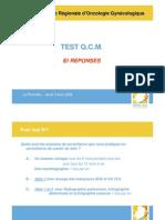 QCM de Gynécologie Obstétrique - Trésor de Médecine