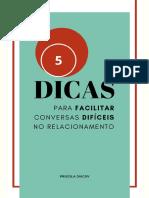 5 DICAS PARA FACILITAR CONVERSAS DIFÍCEIS NO RELACIONAMENTO