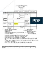Section B-  Spring Time Table