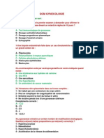 QCM de Gynécologie et Obstétrique 02 - Trésor de Médecine