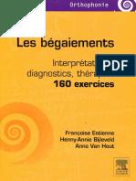 160 exercices sur le bégaiement- Interprétations, diagnostics, thérapies