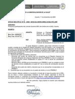 OFICIO COMUNICA  EVALUACIÓN EXCEPCIONAL DE LO - CONTRATO DOCENTE 2021