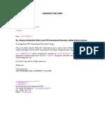 Sample Industrial Visit Letter