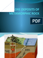 ORE DEPOSITS OF MTAMORPHIC ROCK