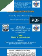 15 - ALBAÑILERÍA - DISEÑO POR FUERZA CORTANTE
