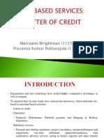 Fees Based Service - Letter of Credit