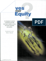 What Drives Customer Equity
