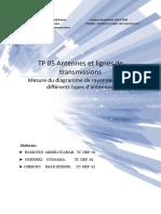TP 05 Antennes et lignes de transmissions