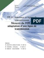 TP 01 Antennes et lignes de transmissions