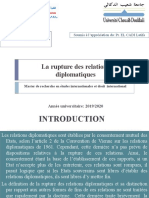 Rupture des relations diplomatique