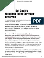 Quand Fidel Castro fascinait Saint-Germain-des-Prés - Libération
