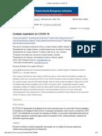 Pao. Cuidado Respiratorio en COVID - 19 (1)