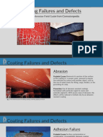 Coating failures and defects