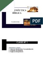 HERMENÉUTICA  clases N° 1 Ps. Isabel Cornejo