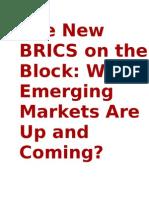 The New BRICS on the Block-debate