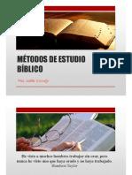 MÉTODO DE ESTUDIO BÍBLICO Clase N° 2 Ps. Isabel Cornejo