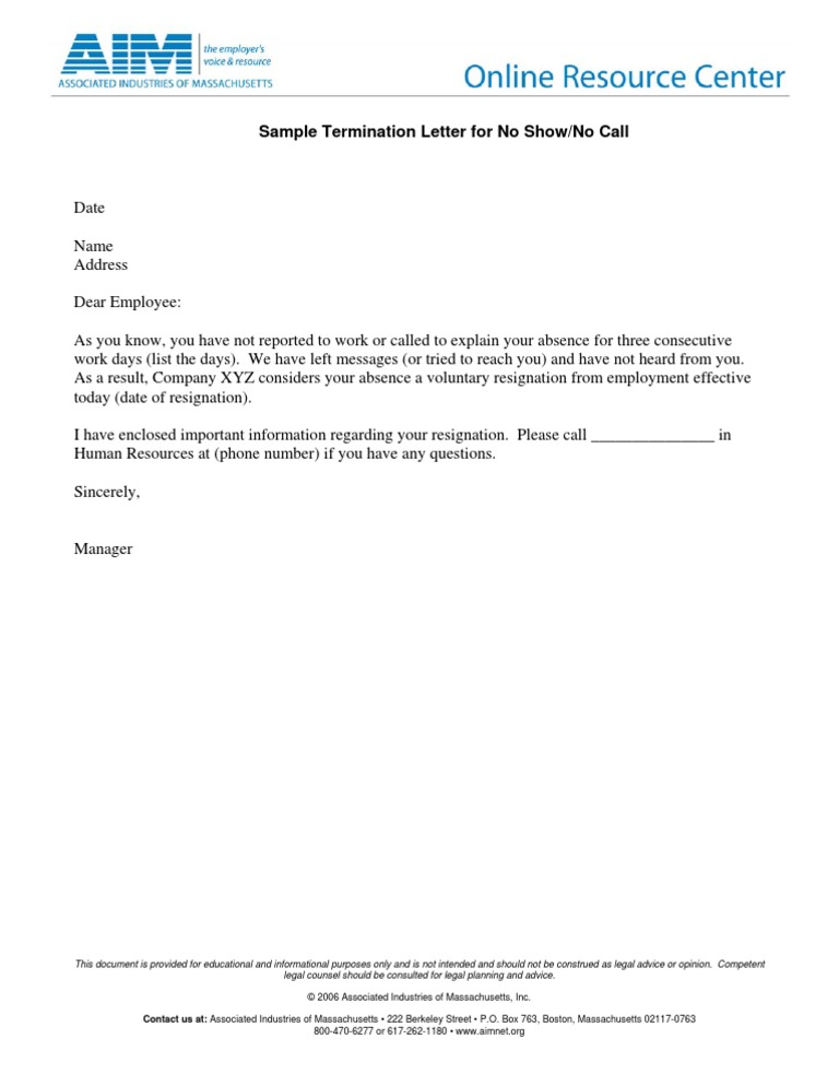 12 Termination Letter Templates Free Sample Example Format. Sample